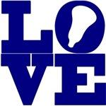 Lacrosse Love Navy