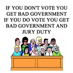 votiing government jury duty gifts apparel