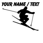 Custom Skiing Silhouette