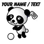 Custom Panda Golfer
