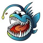 Cartoon Angler Fish
