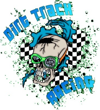 Colorful Racing Skull