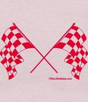 Pink Crossed Checkered Flags
