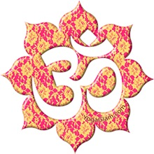 Aum (Om) on Pink/Yellow lace  / YOGA