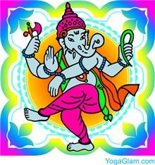 Ganesha rainbow colors / YOGA