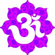 Om Lotus in Purple