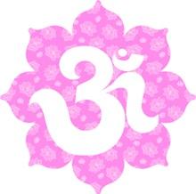 Om Lotus in baby Pink