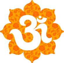 Om Lotus in orange