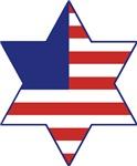 US Flag Star of David