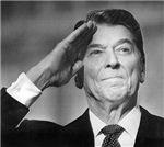 Ronald Reagan Salutes