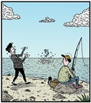 Mime Artist fishing