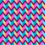 Blue Pink Gold Geometric Pattern