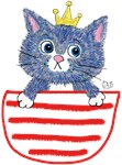 Cat king in pocket