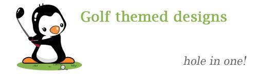 Golf themed designs