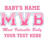 Pink Most Valuable Baby Personalized