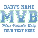 Blue Most Valuable Baby Personalized