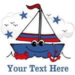 Cute Little Sailboat Personalized