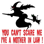 Halloween witch Tshirts-Mother-in-law joke