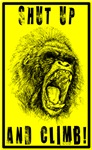 Sketched Out Yellow Big Ape