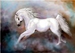 White Horse Painting The Canter