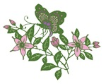 Chinese Butterfly and Flowers