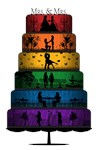 Lesbian Pride Wedding Cake