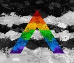 LGBT Ally Paint Splatter Flag