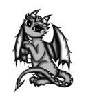 cute Dragon grey