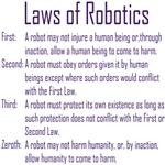 Asimov's Robot Series Laws of Robotics T-shirts &