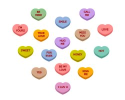 Candy Hearts w/Love Messages