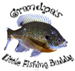 Grandpas Little fishing buddy