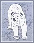 Polar Bear on Ice Christmas Card