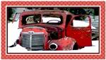 Keeshond - Old Car Christmas