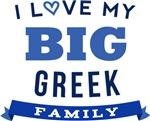 I Love My Big Greek Family Tshirts