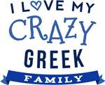 I Love My Crazy Greek Family Tshirts