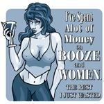 Booze and Women (monotone blue)