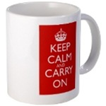 Keep Calm and Carry On Mugs and Bottles