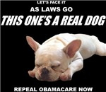 Obamacare: A Dog of a Law (white print on dark)