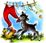 Funny Clothesline Goat