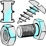 I Screw, Nut & Bolt (x2)