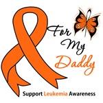 Leukemia Ribbon For My Daddy Shirts & Gifts