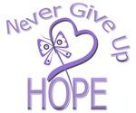 Never Give Up Hope Hodgkin's Lymphoma Shirts