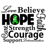 Bile Duct Cancer Hope Collage Shirts and Gifts