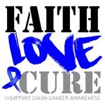 Faith Love Cure Colon Cancer Shirts