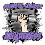 Strength Courage Hodgkins Awareness Shirts