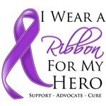 I Wear a Ribbon For My Hero Pancreatic Cancer Tees