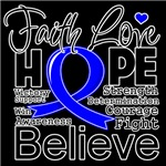 Faith Hope Colon Cancer Shirts