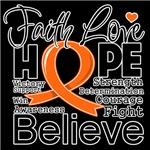 Faith Hope Kidney Cancer Shirts