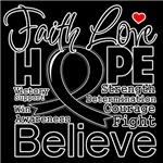 Faith Hope Melanoma Shirts