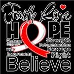 Faith Hope Oral Cancer Shirts